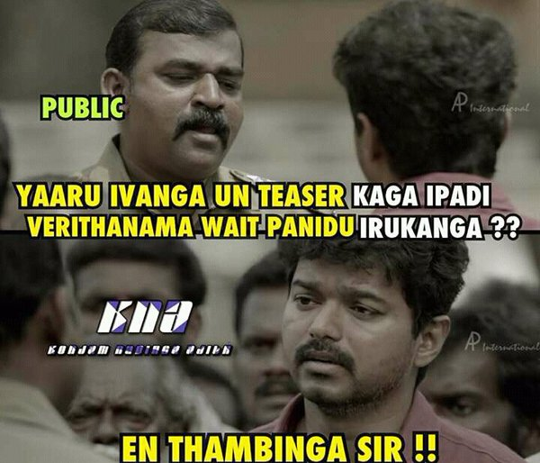 Theri Movie Images With Quotes: Vijay Theri Teaser Meme, Troll, Celebration And Fans Made
