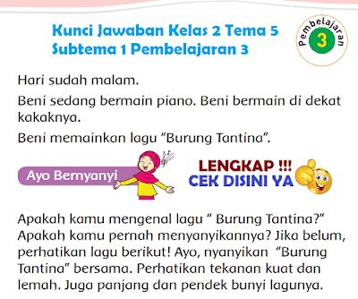 Kunci Jawaban Tematik Kelas 2 Tema 5 Subtema 1 Pembelajaran 3 wwww.simplenews.me
