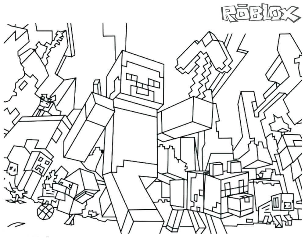 Lego City Kids Minecraft Para Colorir E Brincar