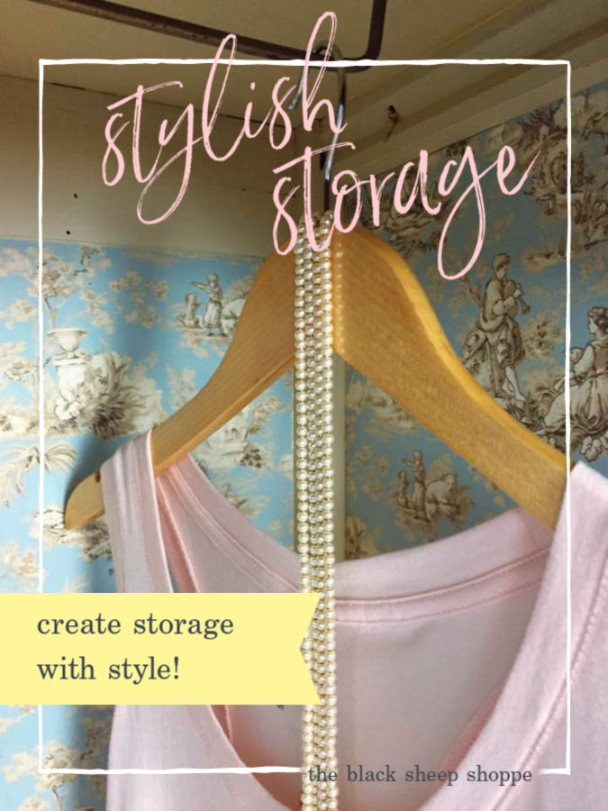 Learn how to turn second hand storage into stylish storage!