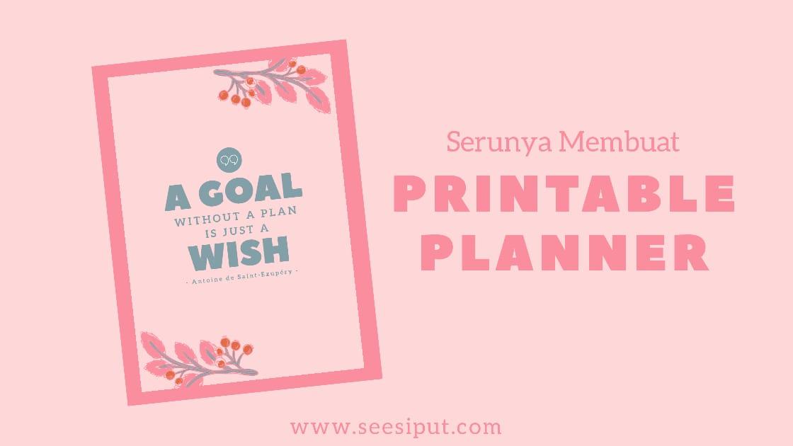 Membuat Printable Planner Sendiri
