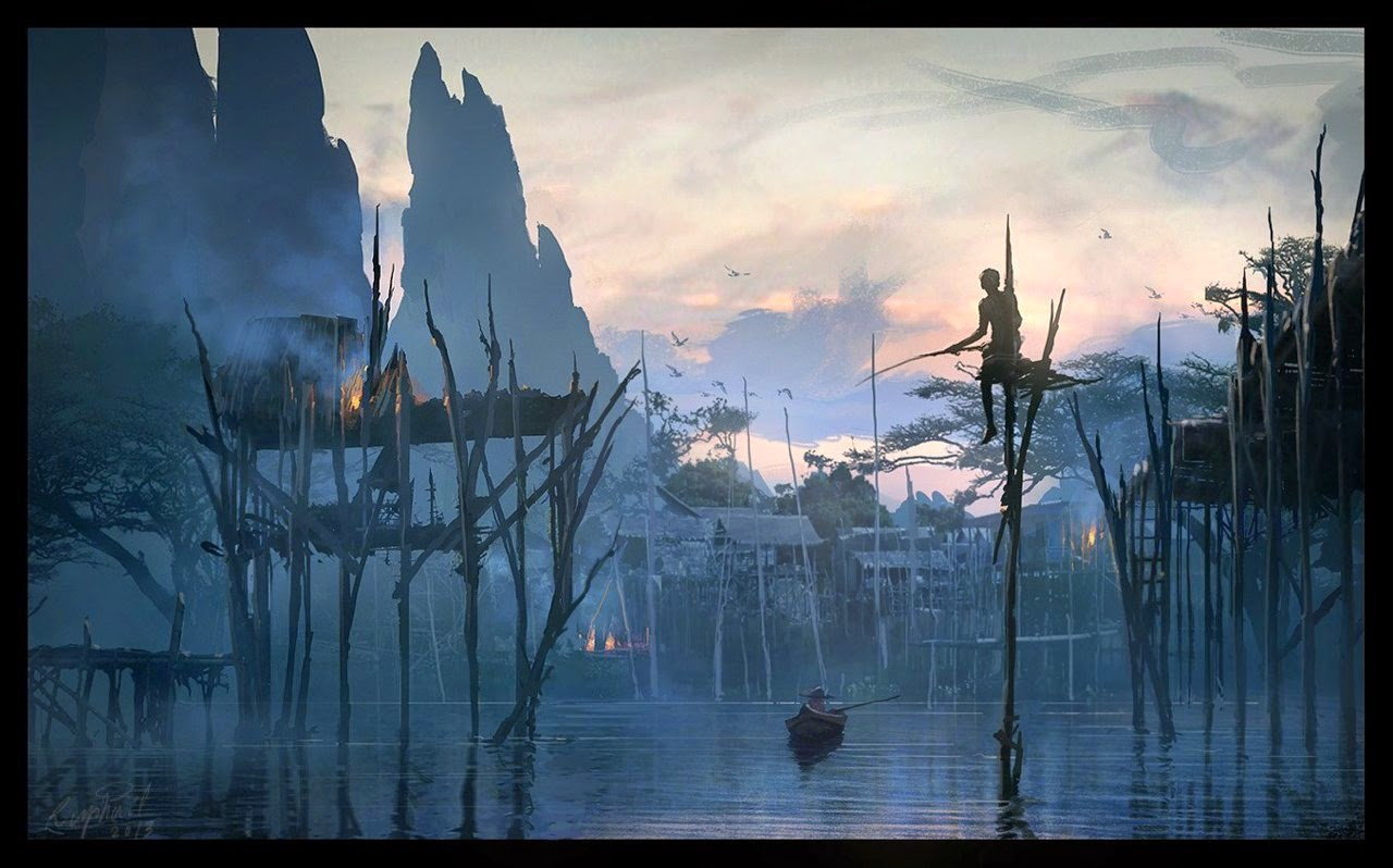 08-fishermen-Raphael-Lacoste-Matte-Paintings-and-Concept-Worlds
