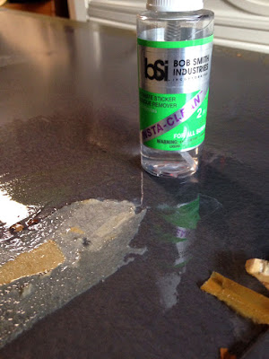 Tape removal - DIY Coffee Table Project - BSI Adhesives - Insta-Clean