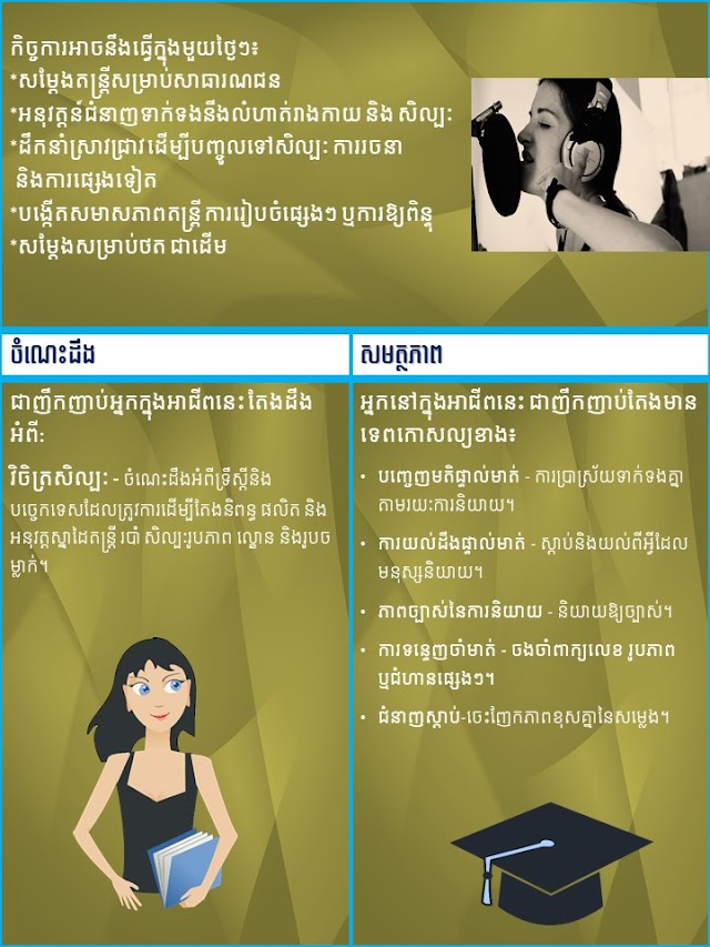 How to be a singer (in Khmer)