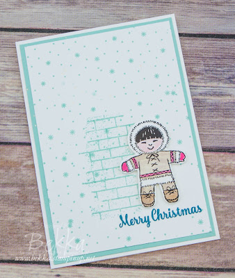 Cookie Cutter Eskimo Christmas Card made with new products from Stampin' Up! UK  Get yours here