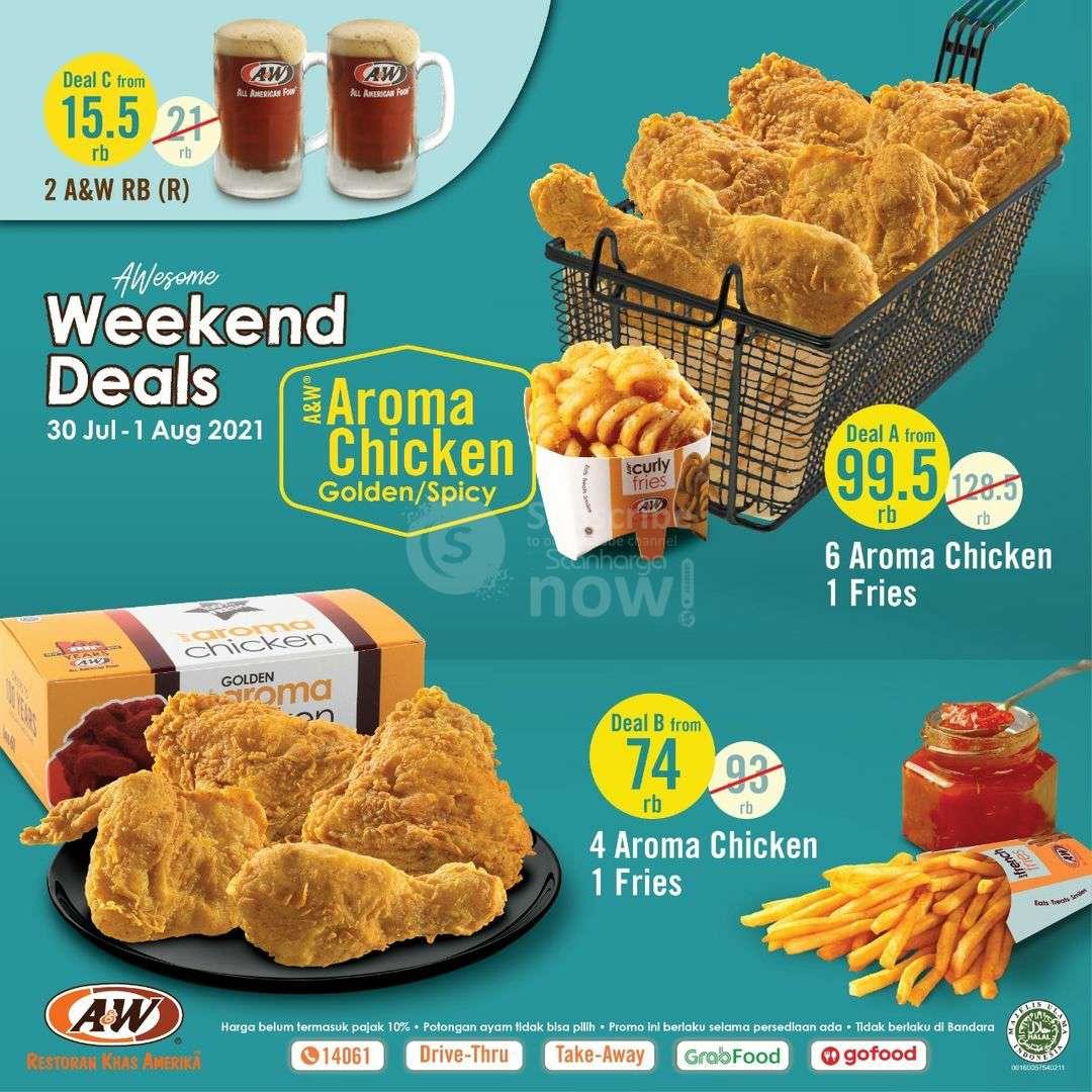 Promo AW Restoran Weekend Deals Periode 30 Juli - 1 Agustus 2021