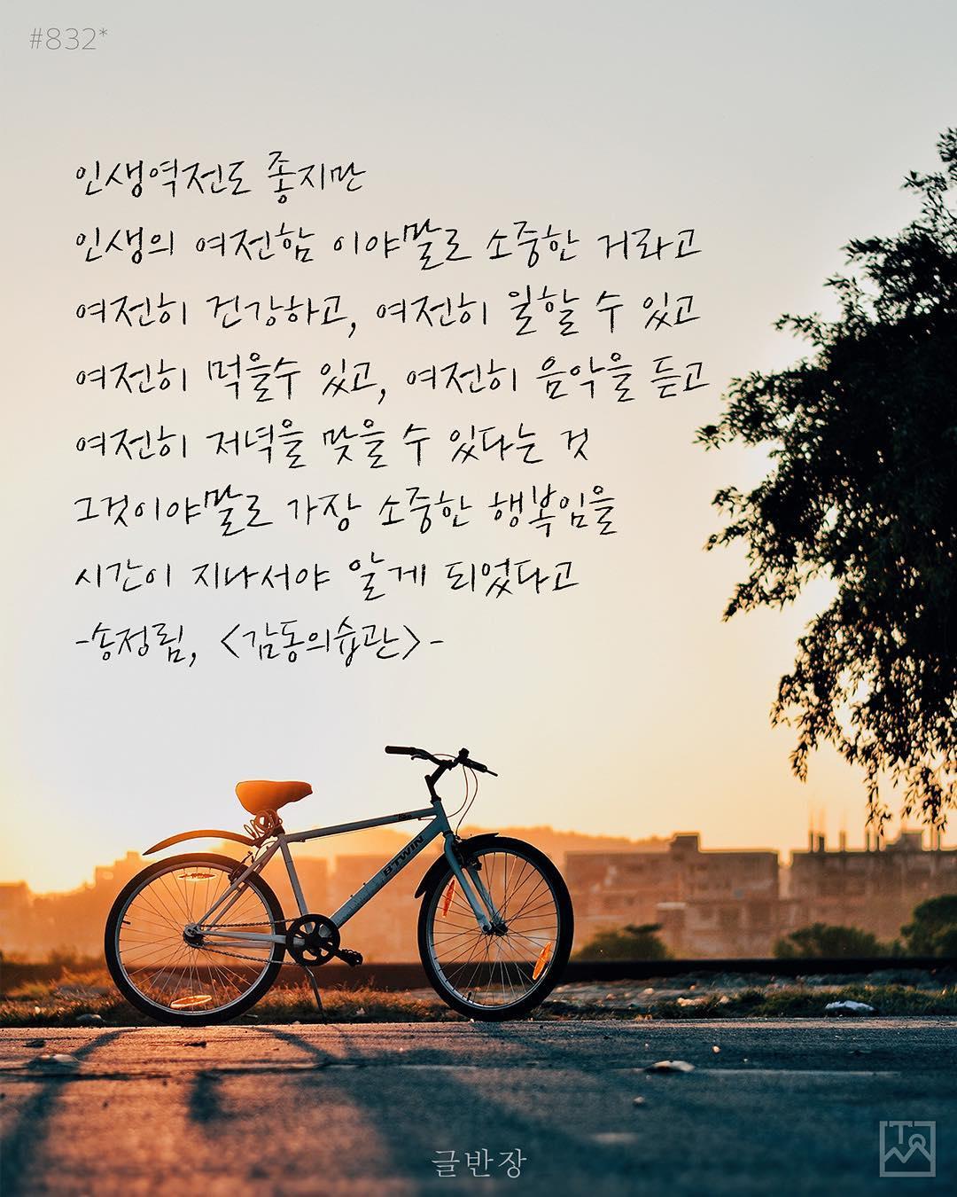 인생의 여전함 - 송정림, <감동의습관>