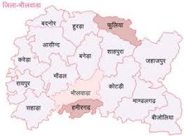bhilwara district map