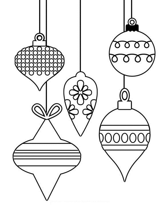 Hình tô màu đèn Noel đẹp và sinh động