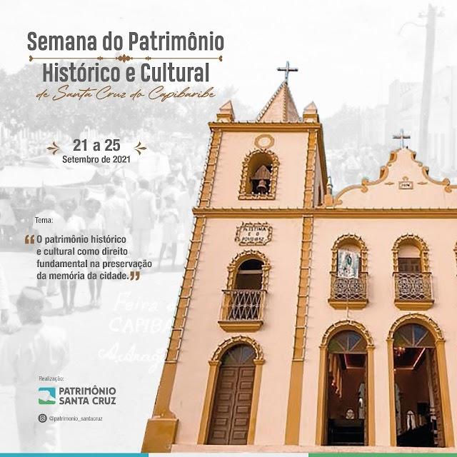 Semana dedicada ao Patrimônio Histórico e Cultural será realizada em Santa Cruz do Capibaribe
