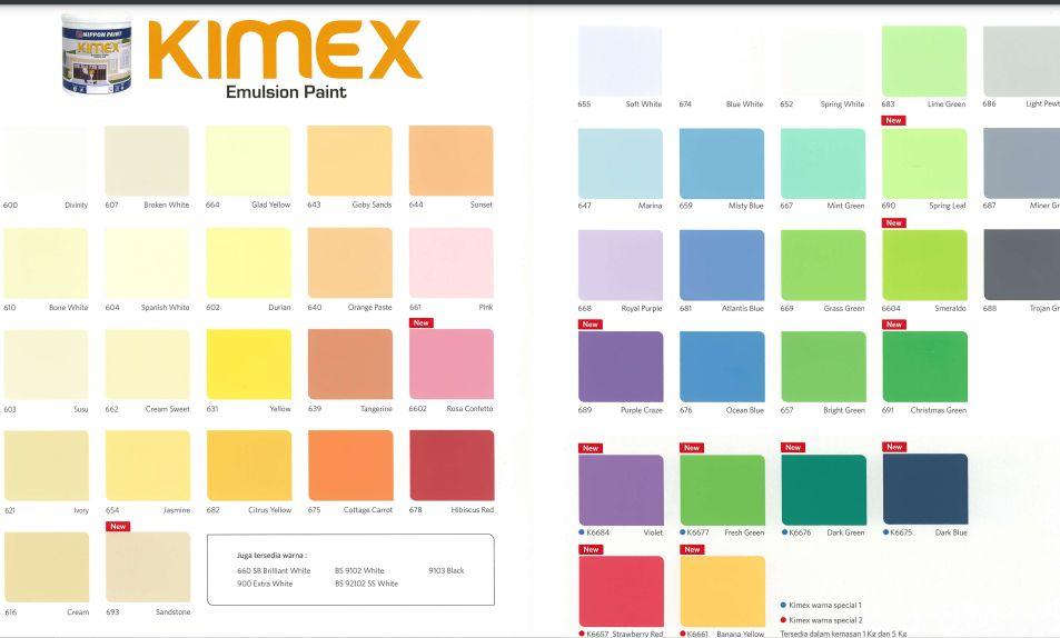 Katalog Warna Cat Kimex Nippon paint