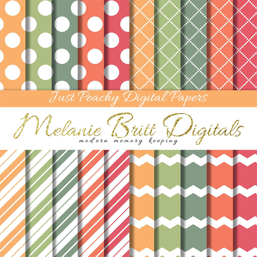 Melanie Britt embracelifesjourney PEACH digital paper