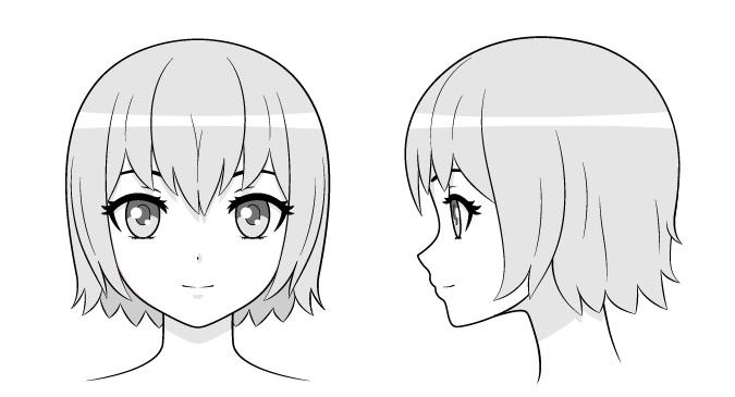 menggambar anime cewek bagian kepala