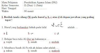 Soal-Ulangan-Ujian-Pendidikan-Agama-Islam-kelas-2-Semester-1-UAS-PAI-kelas-2-SD