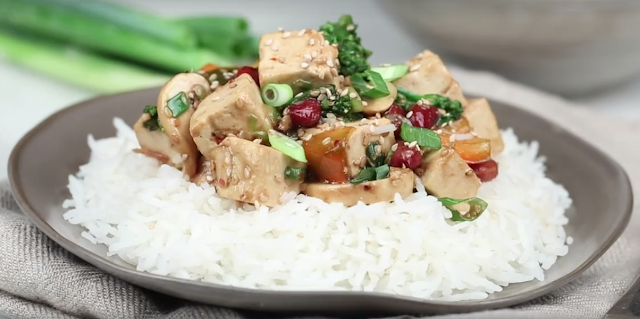 A tofu veggie stir fry made tasty with a simple technique that gives the tofu perfect texture and flavor. Serve over rice or on its own for a healthy and delicious weeknight meal.