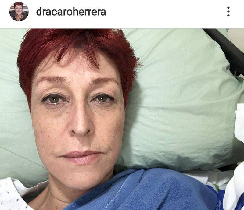 Reacción alérgica mandó a Urgencias a la doctora Herrera