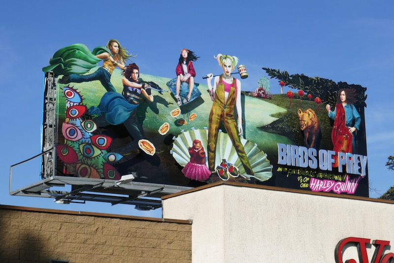 Birds of Prey extension cutout billboard