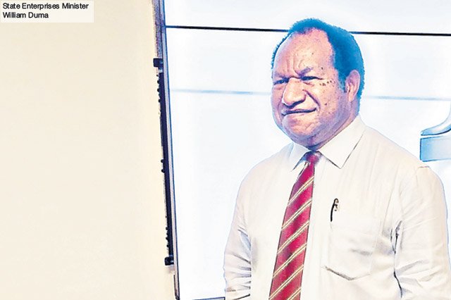 PNG State Enterprises Minister William Duma