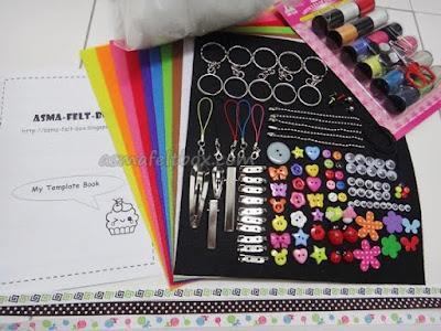 projek DIY, handmade and craft supplies, asma-felt-box, alatan craft, alatan projek DIY