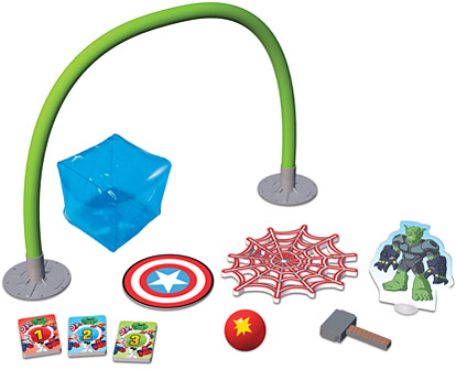 Marvel I Can Do That! Hero Training game pieces