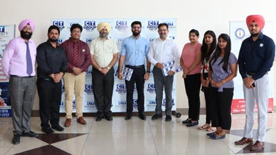 CT university Dean Academics Dr. Gurvinder Baksi along with memebrs from BYJU's during placement drive