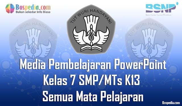 Media Pembelajaran dengan PowerPoint Kelas 7 SMP/MTs K13 Semua Mata Pelajaran