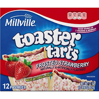 Stock image of Millville Frosted Strawberry Toaster Tarts