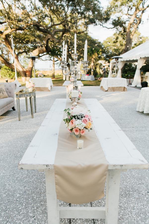 shabby+chic+wedding+spring+summer+pastel+champagne+pink+black+white+bride+groom+bouquet+ceremony+centerpiece+floral+flower+bridesmaid+dresses+dress+riverland+studios+26 - Charleston Pastel