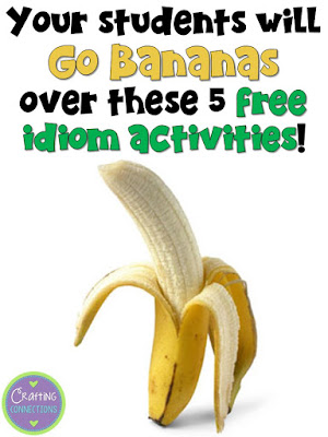 This blog post features five free idiom activities, like a free idioms PowerPoint, game, task cards, and an engaging anchor chart!