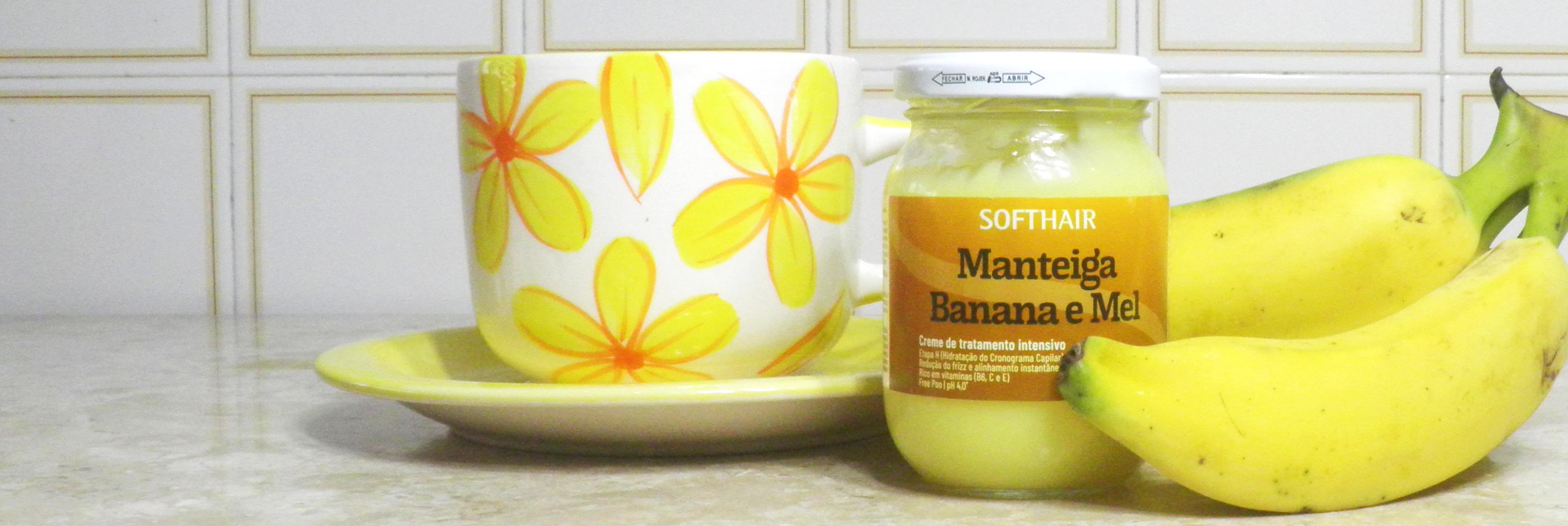 Manteiga Soft Hair Banana e Mel - para etapa de Hidratção do Cronograma Capilar