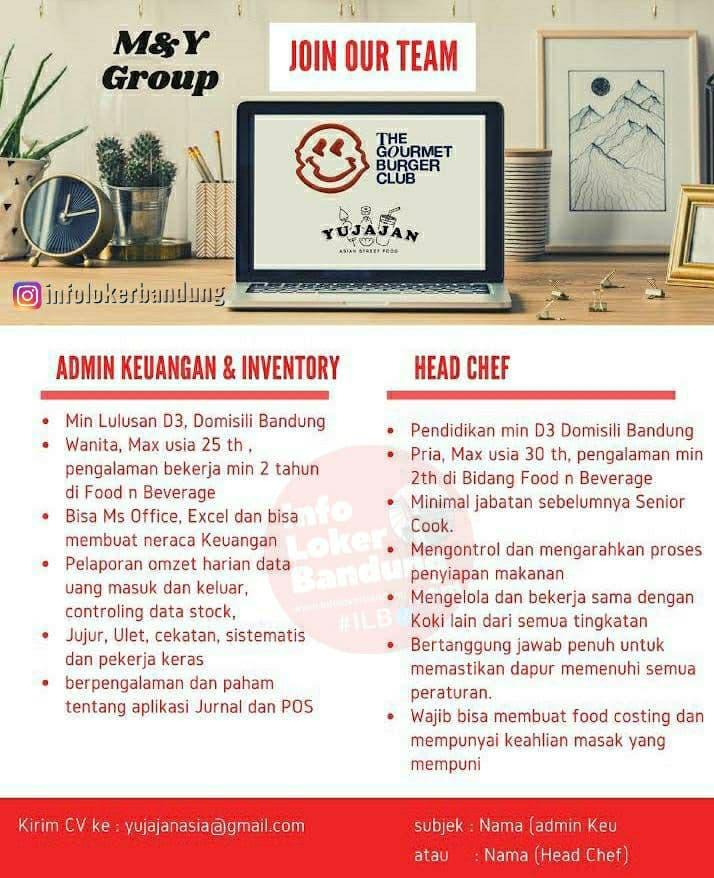 Lowongan Kerja M & Y Group ( Yu Jajan Asia ) Bandung Desember 2020