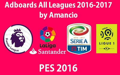 Update PES 2016 Adboards All-Leagues 2017