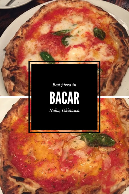 Bacar in Naha, Okinawa is some of the best pizza I have ever tasted. Both options are vegetarian, with a big selection of sides as well as wine. This place is worth the effort.