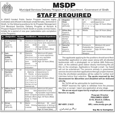 Municipal Services Delivery Program Jobs - Latest Government Jobs 2021