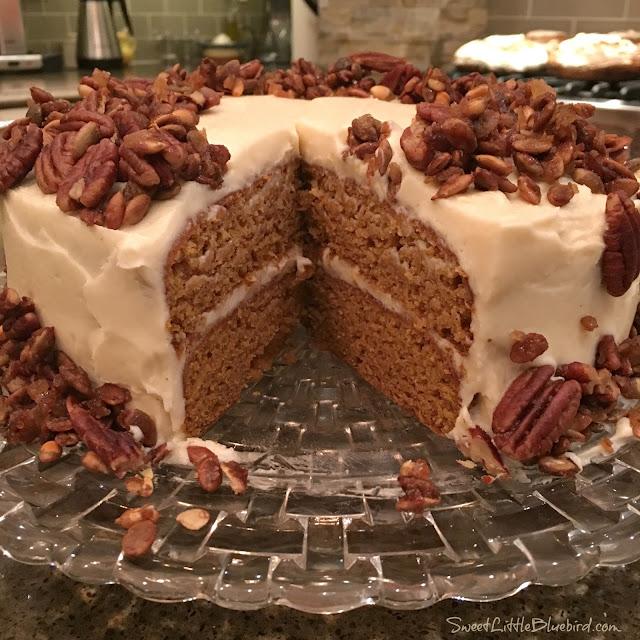 Brown Butter Pumpkin Layer Cake by Sweet Little Bluebird