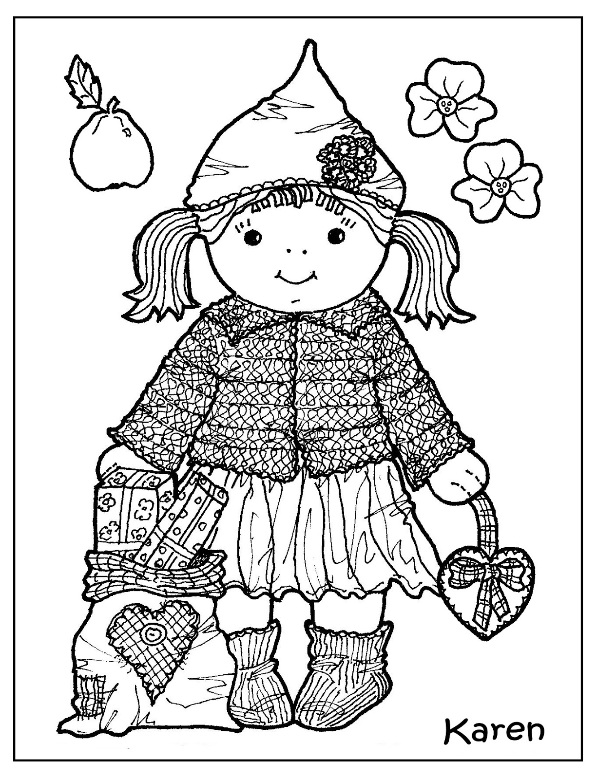 Karens Kravlenisser Cutouts and Colouring Pages