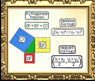 Pythagorean Theorem - geometry word wall