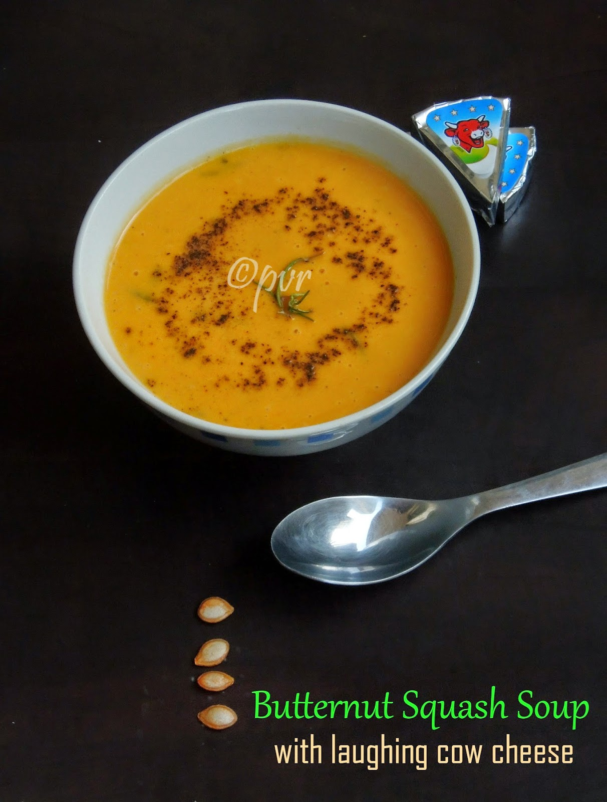Cheesy Butternut squash soup