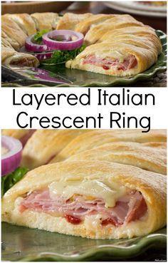 Layered Italian Crescent Ring