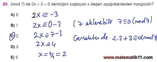 11. Sınıf Matematik Nova Yayınları Ders Kitabı 102. Sayfa İleri Düzey Çözümleri