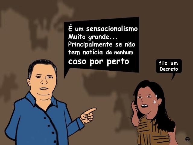 CHARGE: Resposta de Sérgio Miranda sobre o coronévírus em Panelas-PE