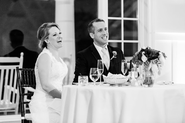 A nautical winter wedding with a spectacular sunset at the Chesapeake Bay Beach Club by Heather Ryan Photography