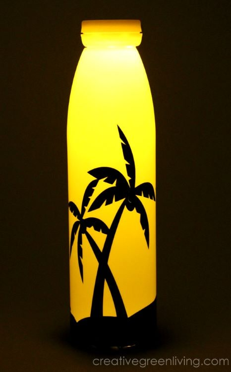 This cute nightlight is a great DIY project to reuse a plastic bottle