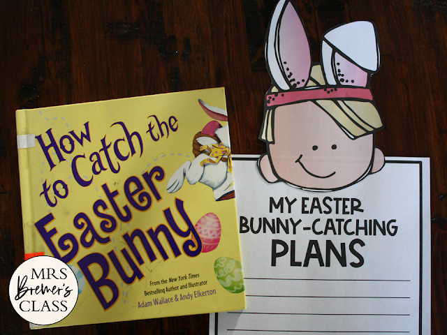 How to Catch the Easter Bunny book study unit with Common Core companion activities and a craftivity for K-1