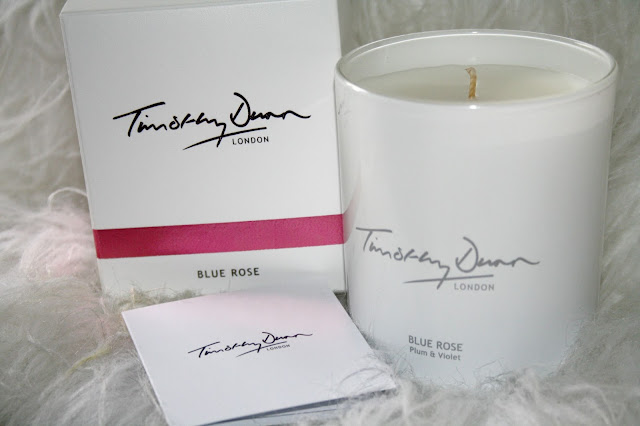 Timothy Dunn Blue Rose Candle