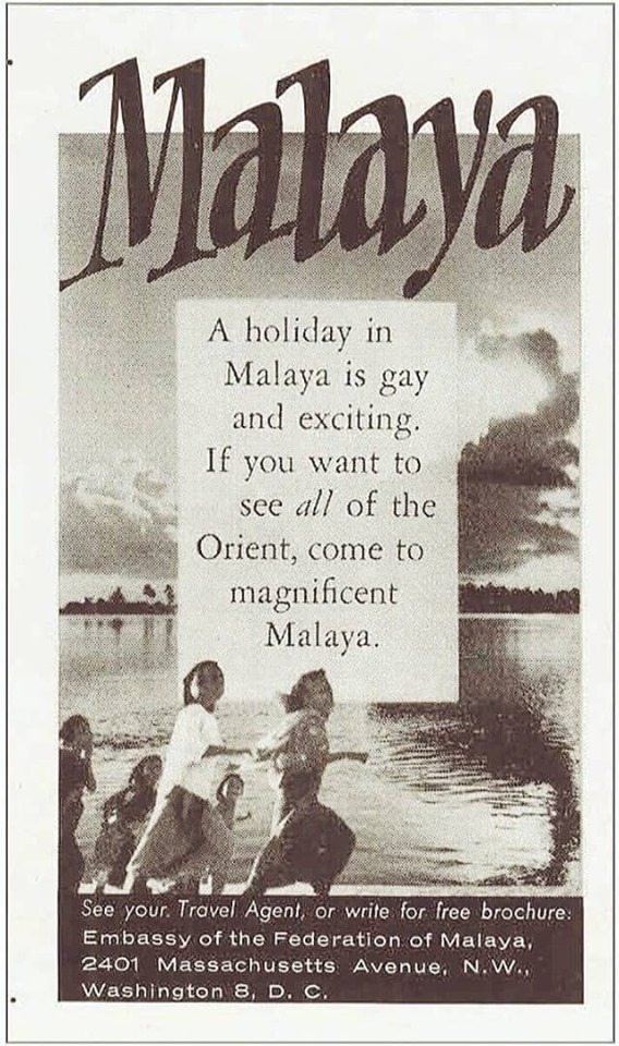 Tourism ads in Malaya