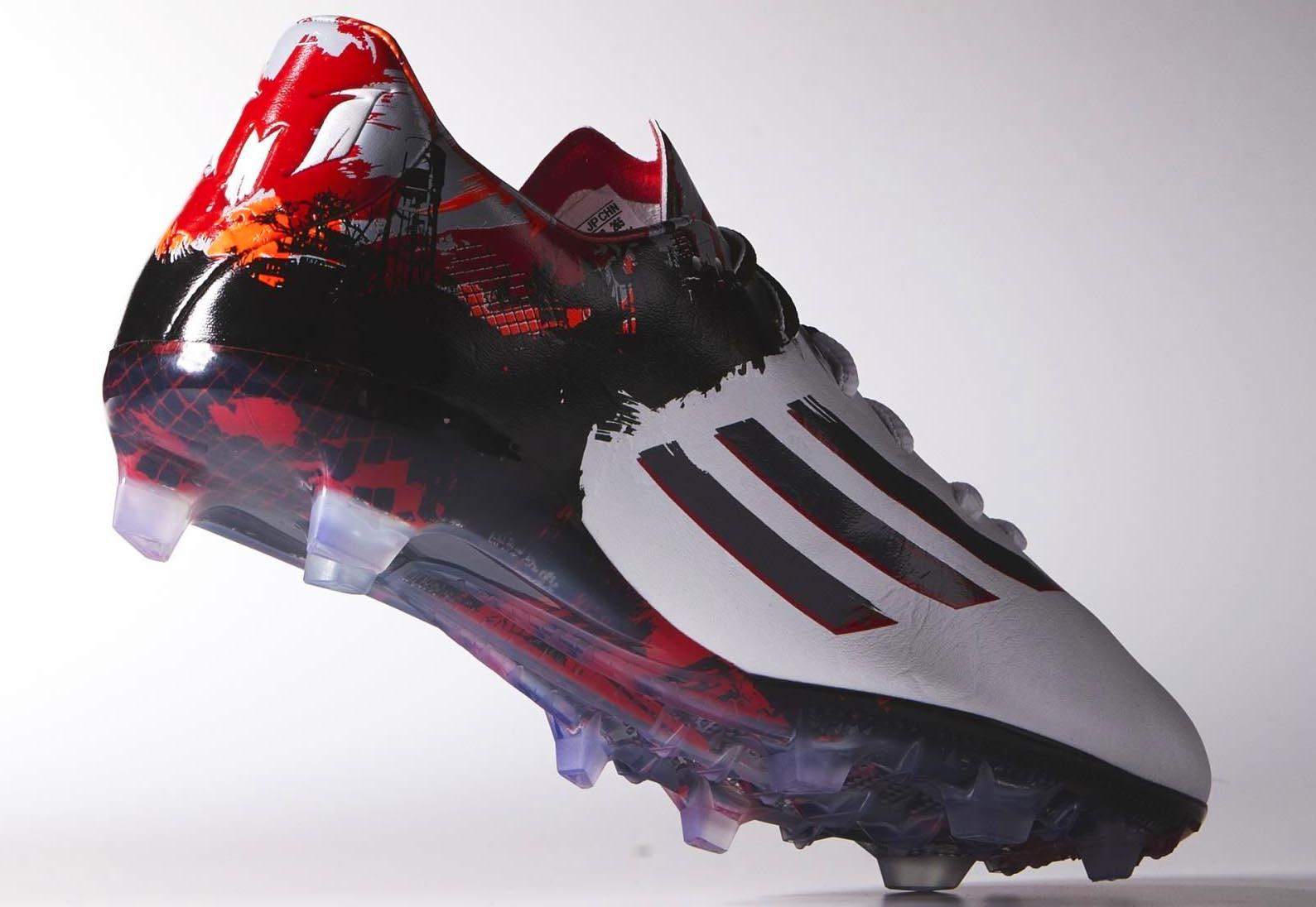 Messi Shoes  Red And White
