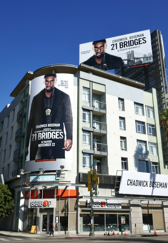 21 Bridges film billboards