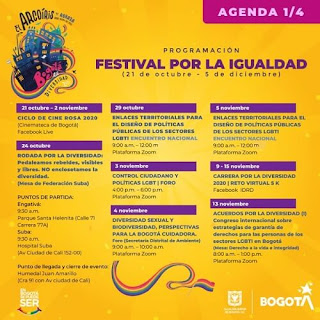 FESTIVAL POR LA IGUALDAD 2020 Agenda 1