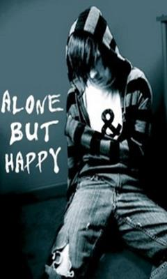 Sms with Wallpapers: Alone But Happy Pictures